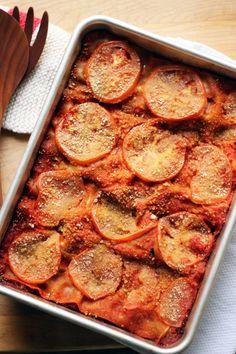 veggie and sweet potato lasagna