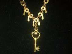 Hardware Jewelry #1: Nutsy Key Necklace - JEWELRY AND TRINKETS- Knitting, sewing, crochet, tutorials, children crafts, papercraft, jewlery, needlework, swaps, cooking and so much more on Craftster.org gold key, steampunk craft, nut, child crafts, key necklac