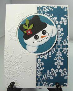 snowman circle flip card