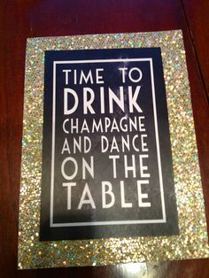 I think this post is what I want my bachelorette party to be like. Even the glitter.