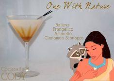 One With Nature: cinnamon schnapps, amaretto, hazelnut liqueur, Irish cream Garnish: caramel