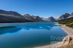 Swiftcurrent Lake: See more images at http://robert-bales.artistwebsites.com/