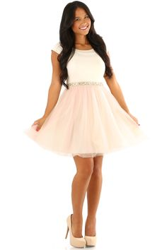 RESTOCK: MINUET: Someday My Prince Will Come Dress: Baby Pink/Cream