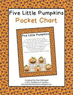 pumpkin pocket, classroom, octob, fall, pumpkins, pockets, pocket charts, kindergarten, chart pet
