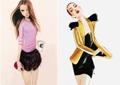 victoria secrets, drawings, nuno dacosta, fashion sketches, fashion models