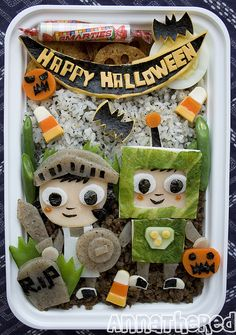 Halloween bento box.