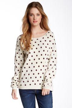 Chic Polka Dot Sweatshirt