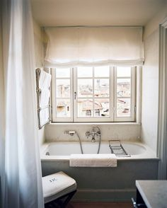 Curtain over tub