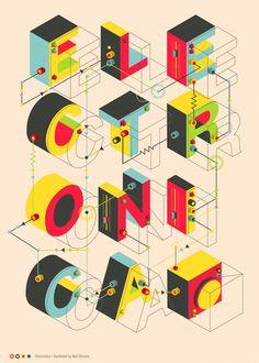 Electronica by Neil Stevens, via Behance - Graphic Design