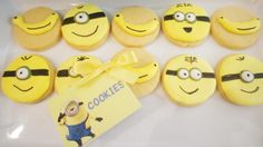CUTE minion cookies at a Despicable Me birthday party!