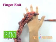 Arm and finger knitting. In arm knitting you use your arms as the needles!
