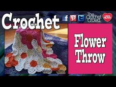 ▶ How To Crochet A Flower Throw - YouTube