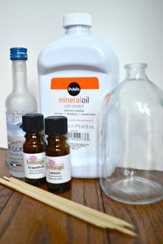 Easy, home-made essential oil reed diffuser!  Project Idea: Reed Diffuser | Design Rousings