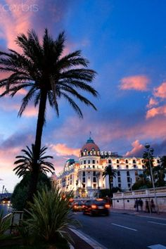 Promenade des Anglais at Nice, France
