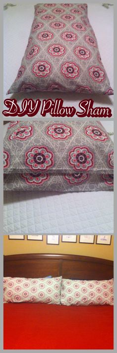 """DIY king size pillow shams  Fabric pieces required for each sham: 20.5"""" x 36"""" back 20.5"""" x 41.5"""" front  (approx 2.25 yards for both shams) Allows for 0.5"""" seam allowance  Extra length on front piece provides coverage for the end of the pillow so it's completely hidden"""