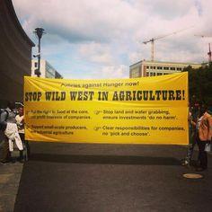 Policies against Hunger in #Berlin. @Oxfam_DE, @INKOTA und @FIANDeutschland sind dabei! Unsere Forderungen: