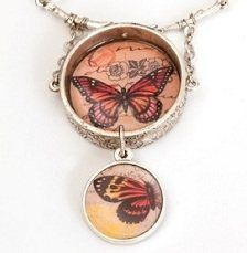 Resin Jewelry Making: Double-Sided Resin Butterfly Pendant - Jewelry Making Daily - Jewelry Making Daily