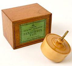 RARE JAQUES PARACHUTE TOP VICTORIAN GAME Circa 1850s - Harris Bethel