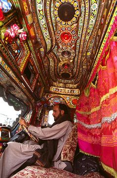 That's how the Pakistani trucks look from the inside.