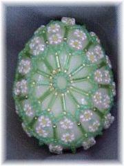 Many Flowers Beaded Egg