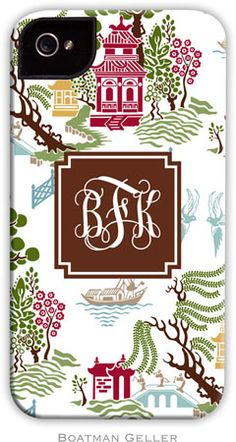 Boatman Geller Hard Phone Cases - Chinoiserie Autumn #Fall #iPhone #Monograms