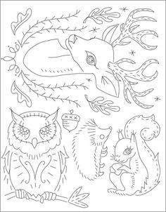 Forest Friends embroidery patterns
