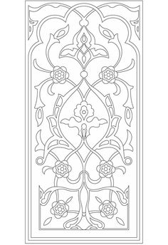 Welcome to Dover Publications...this can be turned into a scroll saw pattern... this would make a nice cover for vents or a pattern for cabinet doors.