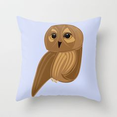 Cute Owl Throw Pillow by Jessica Slater Design & Illustration - $20.00