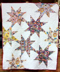Love the idea of large wonky stars done in a large scale print! Via Sweet and Sassy