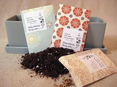 scrapbook paper seed packets