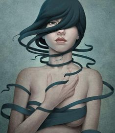 What can be more inspiring for an artist than a woman's face/body? Since the beginning it is one of the biggest muse of the artist's worldwide. Diego Fernandez is a digital illustrator from Argentina. He shows the beauty, sensuality and emotions in a women with a big accent to their hair.