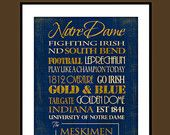 Notre Dame: Ready to Hang Standout. $60.00, via Etsy.