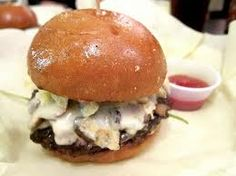 "recipe: porcupine cheese burger. ""the coolest, crunchiest cheese burger ever!!"""