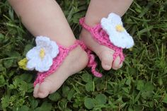 Boutique Petal Toes Barefoot Baby Sandals INTRO by bubbipop, $10.99