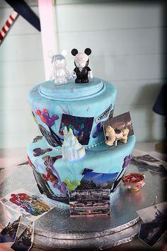 walt disney, idea, fans, disney inspired, wedding cakes, disney cakes, disney weddings, honey, cake toppers