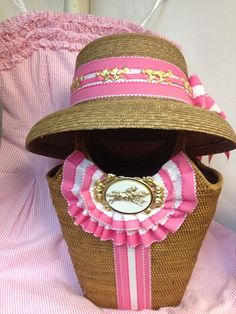Custom designed hat and bag for the Preakness Race