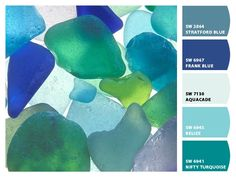 Sea Glass Paint colors from Chip It! by Sherwin-Williams