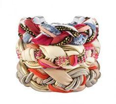 #jewellery #bracelet #fabric #diy