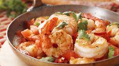 Garlic Buttered Prawns with Tomato and Coriander - Masterchef Australia Recipe