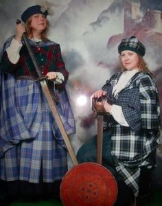 On our last day in Edinburgh, @thefellowette and I dressed up as Scottish academic warrior maidens. Don't try this at your next committee meeting...