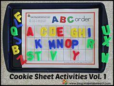 Cookie Sheet Activities Pre K- Kindergarten Bundle!