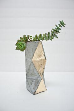 Geometric Concrete Succulent Cacti Planter Vase