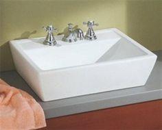 faucet, sentir overcount, bathroom sink, cheviot, hous bathroom, bathroom idea, sinks, bathroom remodel, vessel sink