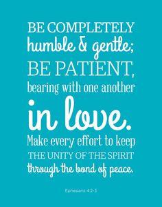 Ephesians 4:2-3