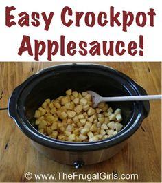 Crockpot Applesauce homemade applesauce crockpot, crock pots, homemad crockpot, dessert recipes, applesauc recip, crockpot applesauce recipes, applesauce crockpot recipes, breakfast recipes, easi homemad