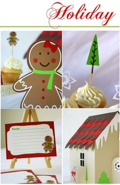 love these gingerbread recipe cards!