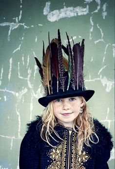 gorgeous feather, feather hat, feather topper, kid