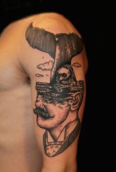 whale tale, whale tail, tattoo design, pietro sedda