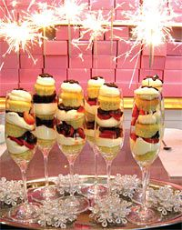 New Year's Eve Strawberry Champagne Sparkler Cupcakes