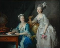 """And Elderly Woman with her Daughter"", Anne Vallayer-Coster, 1775; Bowes Museum, Barnard Castle B.M.329"